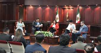 """Presentación del Libro """"La Ciudad de México y su esquema electoral""""."""