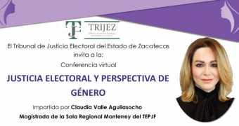 Conferencia virtual: Justicia Electoral y Perspectiva de Género